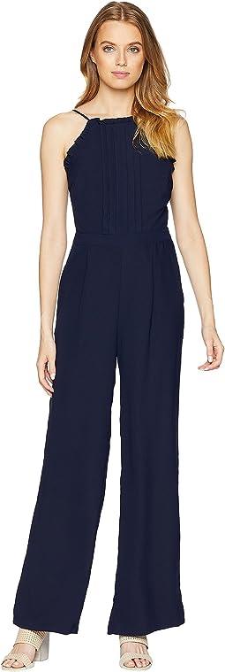 Woven Apron Style Jumpsuit