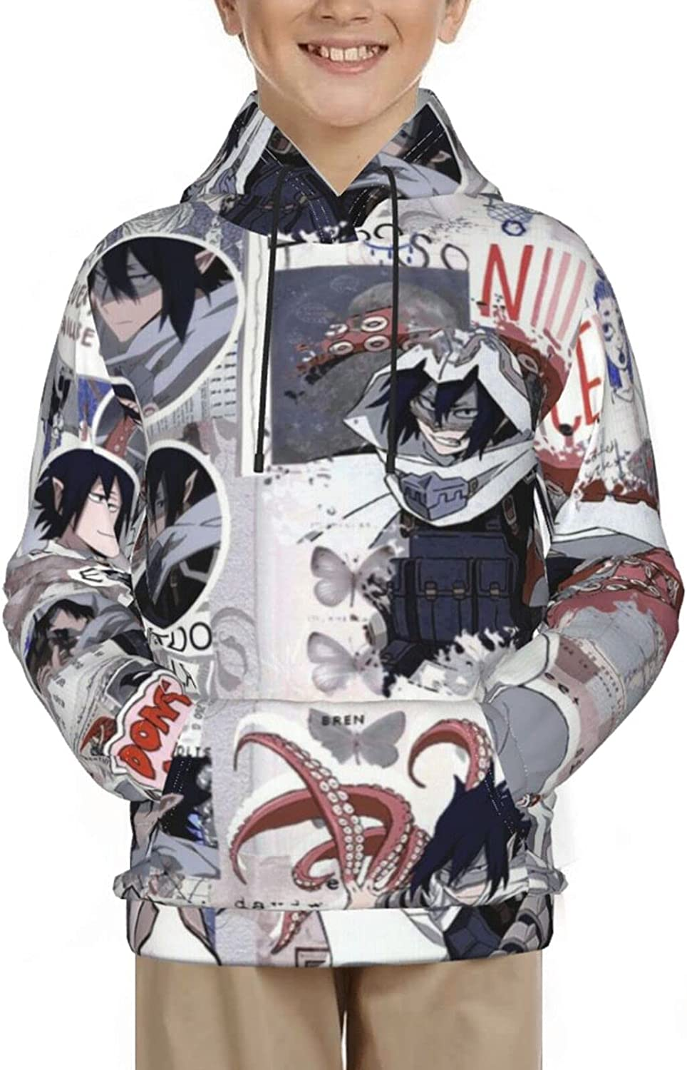 Boys And Girls Youth Casual Sweatshirt My Hero Academia Stain 3d Digital Print Hoodie With Pockets