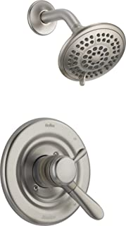Delta Faucet Lahara 17 Series Dual-Function Shower Trim Kit with 5-Spray Touch-Clean Shower Head, Stainless T17238-SS (Valve Not Included)