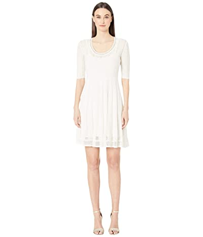 M Missoni Knitted Short Sleeve Dress (Marshmallow) Women