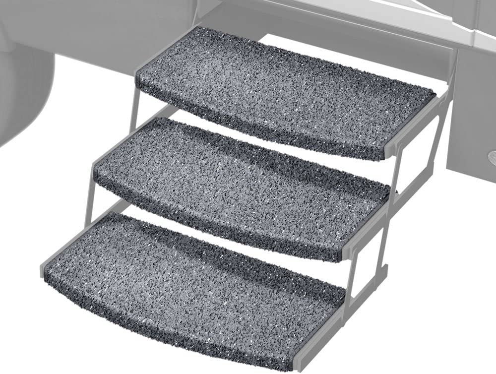 Prest-O-Fit 3-Pack 2-4050 Wraparound Radius RV Step Rug Stone Gr