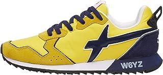 w6yz Jet-M.-Sneaker in Tessuto Tecnico e Suede-Giallo Multicolore 40