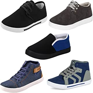 Super Men Combo Pack of 5 Casual Shoes with Loafers Shoes