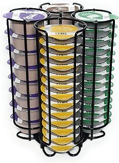 NEW4LIFE - Porte dosettes à café noir - compatible avec capsules Tassimo Bosch - support dosette pour rangement 52 pièces...
