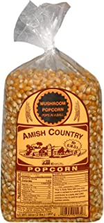 Amish Country Popcorn | 2 lb Bag | Mushroom Popcorn Kernels | Old Fashioned with Recipe Guide (Mushroom - 2 lb Bag)