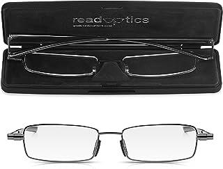 e65343d8a0 Read Optics: Gafas Plegables de Lectura Vista - Compactas de Bolsillo con  Funda Rígida -