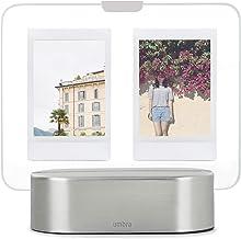 أومبرا 1013261-410 زجاج شاشة عرض صور / توهج مع إطار صورة LED، 5.08 سم × 7.62 سم، نيكل مطفي