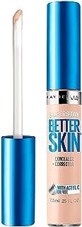Maybelline New York SuperStay Better Skin Concealer + Corrector, Light/Medium 0.25 oz (Pack of 2)