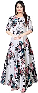 Khushi Print Women's Rayon Gown (Multi Color)