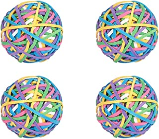 NBEADS 4 Sets 200pcs Per Ball Total 800pcs Colorful Rubber Band Balls, Elastic Stretchable Bands for Hair, Arts and Crafts and Document Organizing