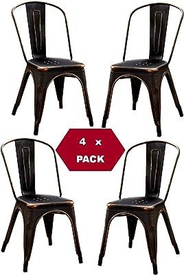 Menzzo Milo sillas, Terciopelo, Rojo, 43: Amazon.es: Hogar