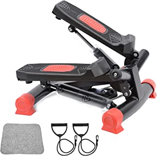 AUSELECT Exercise Bike, Exercise Stepper, Pedal Exerciser Mini Aerobic Stepper Machine with Display, Low Noise Fitness Ste...