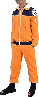Adult US Size Uzumaki Childhood Shippuuden Men's Cosplay Costume