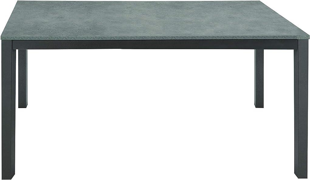 Tavolo allungabile, legno, grigio, 110 x 70 cm fashion commerce fc847