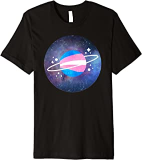 Space Aesthetic Planet Transgender Pride Flag Colors Shirt
