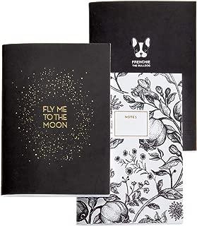 copertina morbida Pack 3 quaderni cuciti A6 Miquelrius 1348 30 fogli puntinati Golden Black