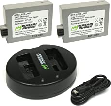 Wasabi Power Battery (2-Pack) and Dual USB Charger for Canon LP-E5 and Canon EOS 450D, 500D, 1000D, Kiss F, Kiss X2, Kiss X3, Rebel XS, Rebel XSi, Rebel T1i