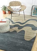 Jaipur Rugs Modern Ivory 5X8 Feet Wool Geometric Rug and Carpet