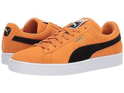PUMA Suede Classic (Orange Pop/Puma Black) Athletic Shoes