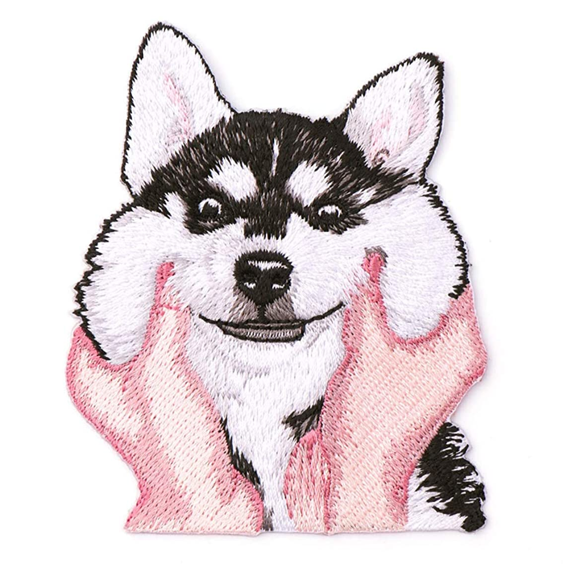 2 Pcs Cute Husky Delicate Embroidered Patches, Cute Embroidery Patches, Iron On Patches, Sew On Applique Patch,Cool Patches for Men, Women, Girls, Kids