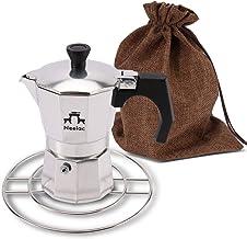 Neelac 直火式エスプレッソマシン マキネッタセット(五徳、収納袋付) IH非対応 ご自宅やキャンプでお手軽においしいコーヒーを (3cup(120ml))