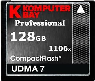 Komputerbay 128GB Compact Flash メモリカード 1106X CF 書く160MB/s, 読む167MB/s UDMA 7 RAW コンパクトフラッシュメモリカード