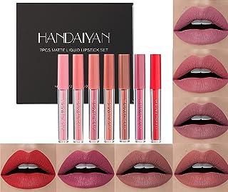 ست رژ لب مایع جوهر مات YOUNG VISION ، 7 رنگ کاملاً رنگی و مات لب لک ، ست هدیه آرایش لب برای خانمها