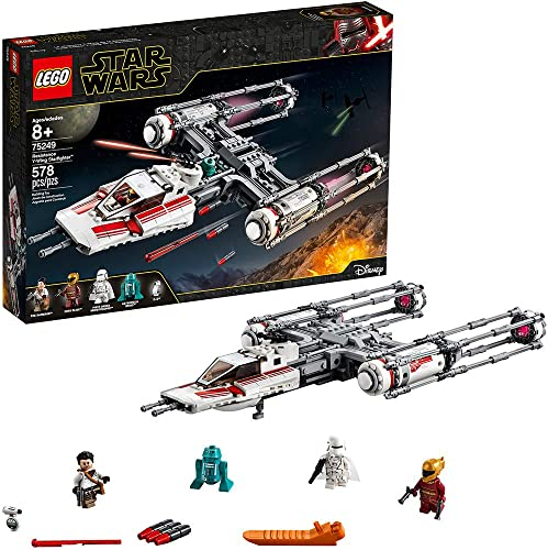 new arrival LEGO outlet online sale Star Wars: The Rise of Skywalker Resistance Y-Wing Starfighter 75249 New Advanced Collectible Starship 2021 Model Building Kit (578 Pieces) online