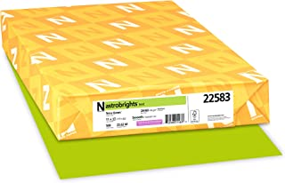 Wausau Astrobrights Heavy Duty Paper, 24 lb, 11 X 17 Inches, Terra Green, 500 Sheets (22583)