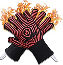 AZOKER Premium Extreme Heat Resistant Oven Gloves - Silicone Non-Slip Insulated, Flexible, Soft - Protect Hands from Hot S...