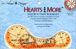 Hearts and More Small Template Set: 2 1/2 Inches X 7 Inches and 1 5/8 Inches X 4 Inches