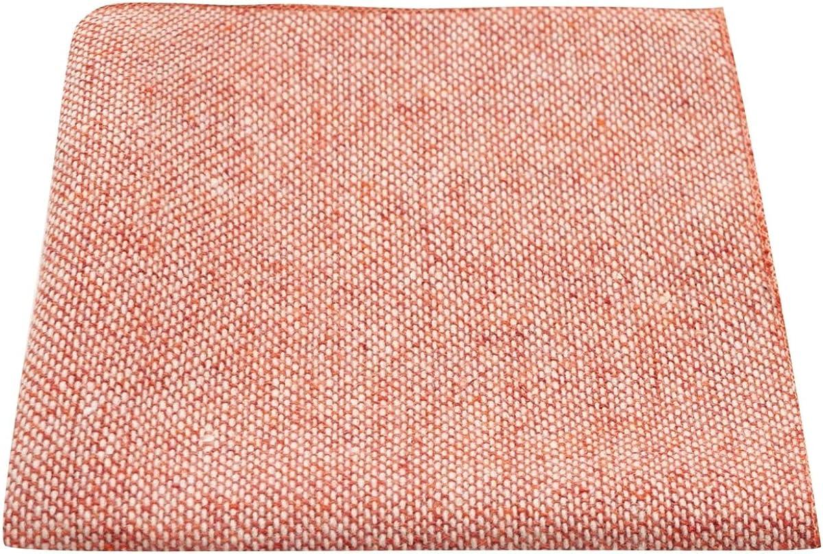 Highland Weave Stonewashed Brick Red Pocket Square, Handkerchief