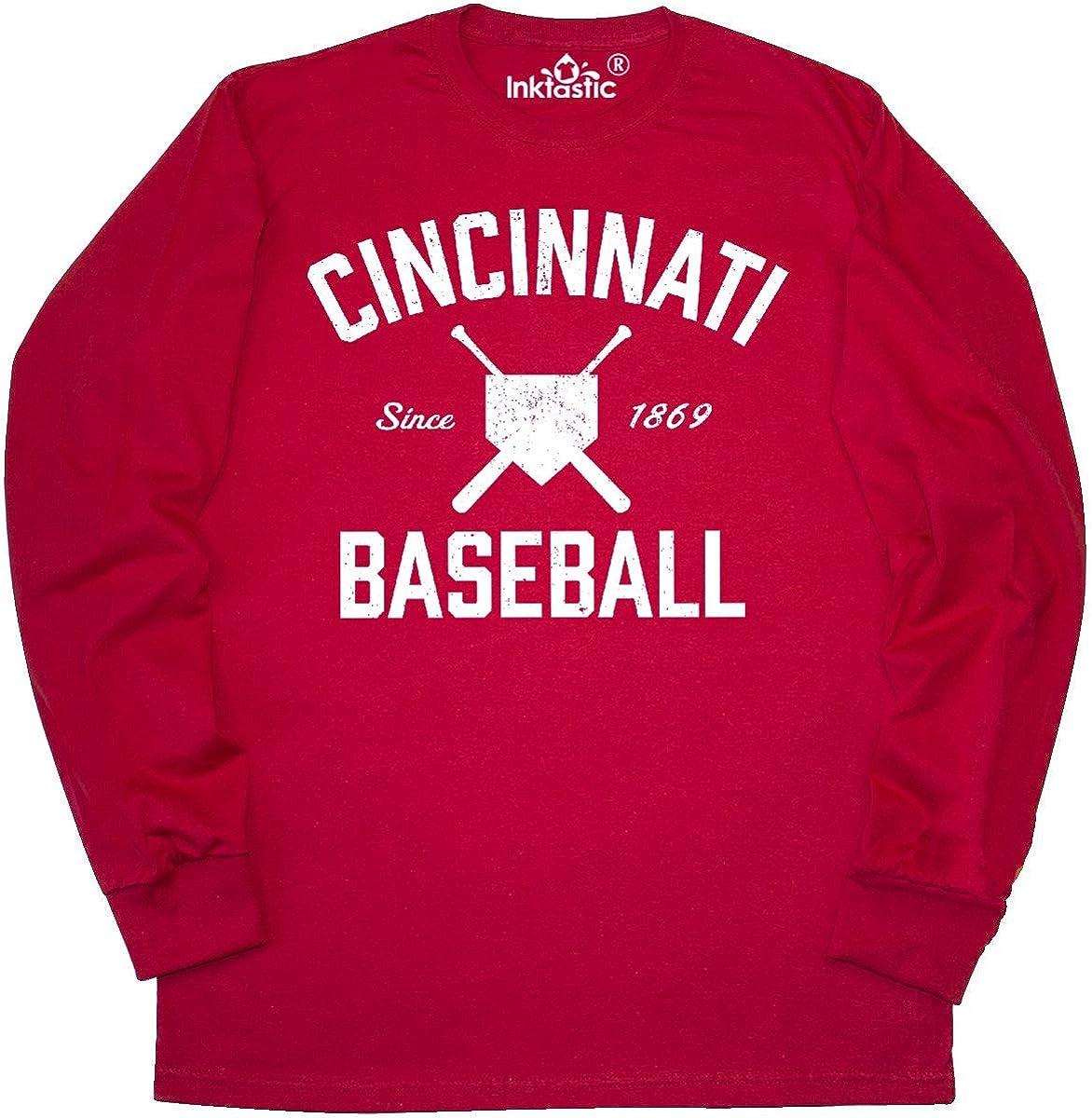 Sm-5X Nalie Sports Cincinnati Baseball Fans Charlie Hustle Red T-Shirt