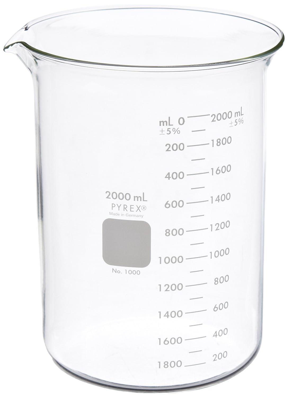 Corning Pyrex Max 61% OFF Borosilicate Glass Low Beaker Form Gradua Griffin New Orleans Mall