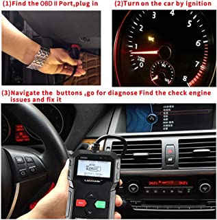 KONNWEI OBDII Scanner, KW590 Car Code Reader, CAN Diagnostic Scan Tool and Full OBDII EOBD Functions,with Class Enhanced U...