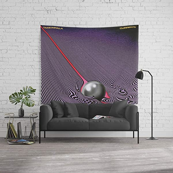 Wenhuamucai Wall Tapestry Size Large 60 X 51 Tame Impala Currents Decor For Living Room Bedroom Dorm