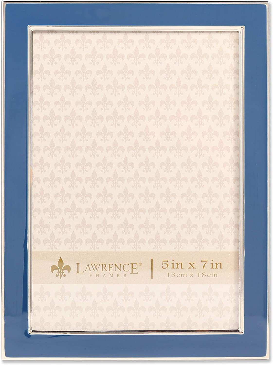 Lawrence Frames 586457 Clearance SALE Limited Manufacturer regenerated product time 5x7 Navy Picture Blue Enamel Frame