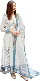 click jaipur Women's Rayon Soft Touch Long Anarkali Designer Kurta with Dupatta Set