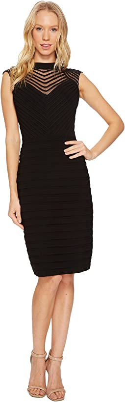 Adrianna Papell Banded and Soutache Sheath Dress