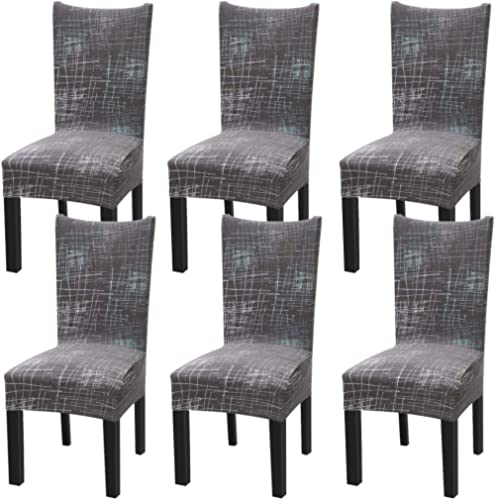 Fuloon Super Fit Stretch Removable Washable Short Dining Chair Protector Cover Seat Slipcover for Hotel,Dining Room,C...