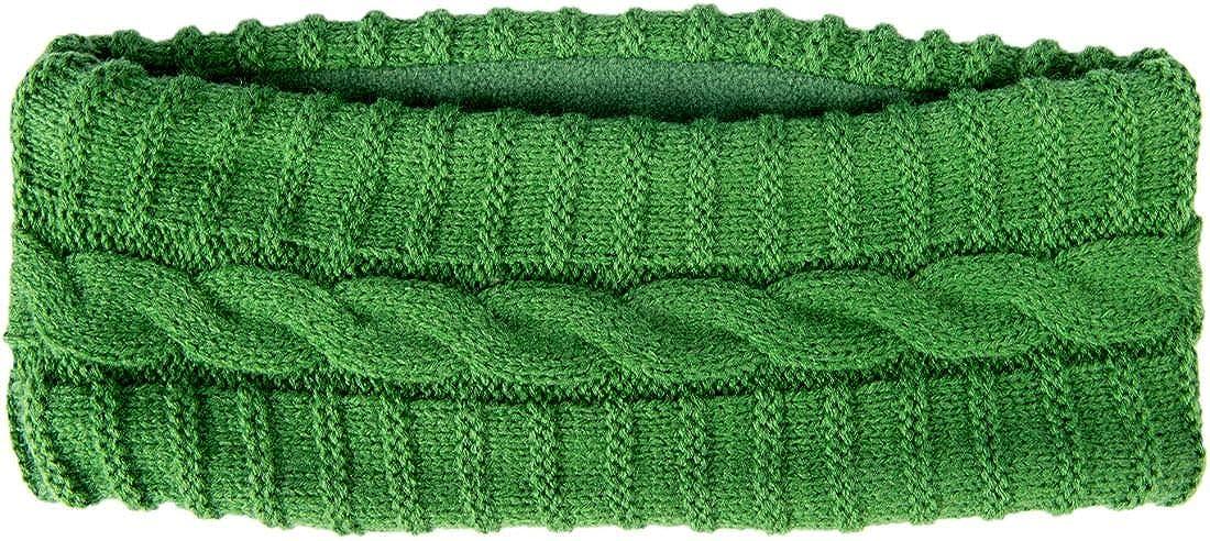 Aran Woollen Mills Ladies Knit Acrylic Headband, Green Colour