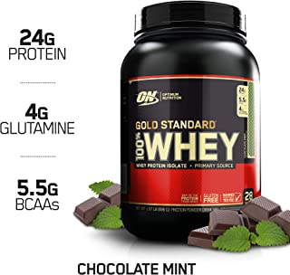 OPTIMUM NUTRITION GOLD STANDARD 100% Whey Protein Powder, Chocolate Mint 2LB