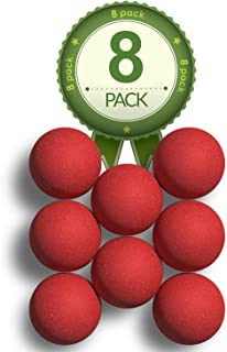 Colonel Pickles Novelties Tournament Foosball Balls - 8 Pack - Official 35mm Game Table Size - Competition Grip Red Tabletop Soccer Balls