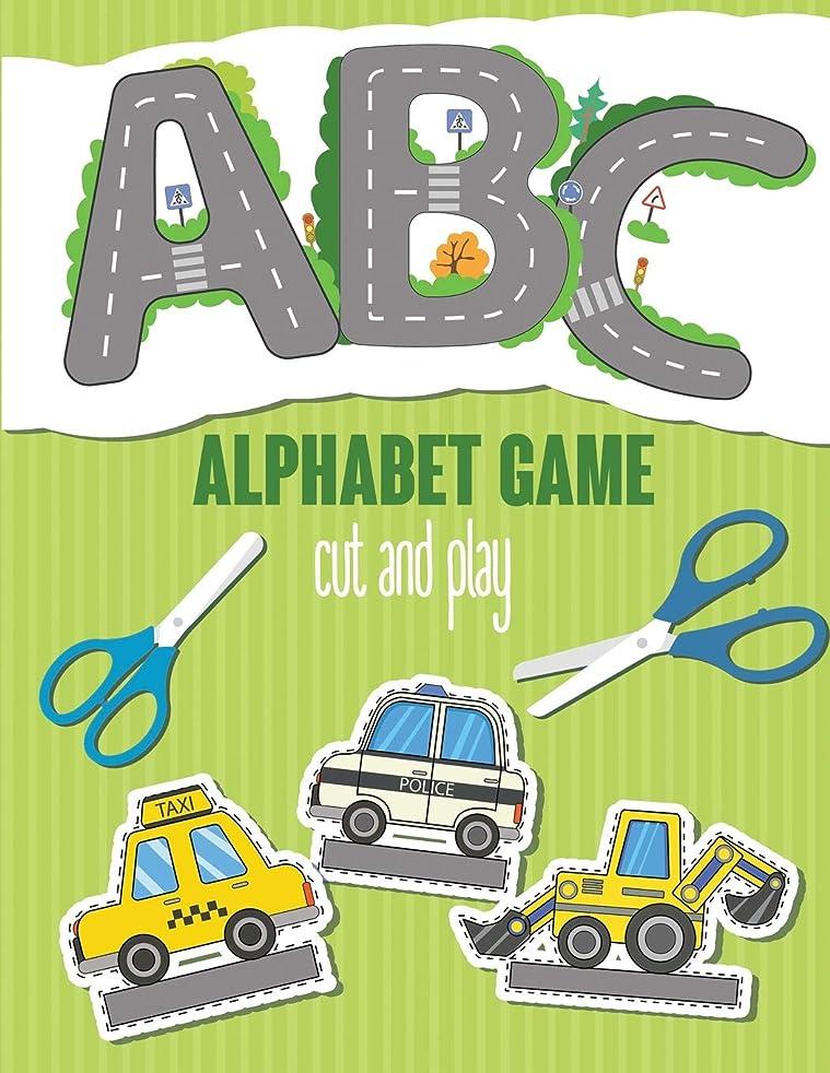 薄汚い反論汚すABC Alphabet Game. Cut and Play: Alphabet activity book for kids 2-7 years old. Cut Cars and Drive on the Roads in the form of Letters