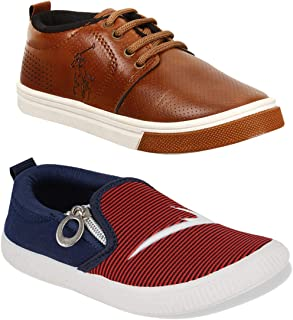 Camfoot Multicolor-Combo-(2)-1090-11059 Top Best Rates Cricket Shoes,Casual Shoes,Loafers Shoes Comfortable for Kids & Boys's