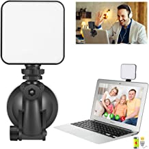 Video Conference Lighting Kit for Remote Working, Lighting for Video Conferencing, Zoom Calls, Broadcast, Live Streaming,Adjustable Video Light with 2020 Upgrade Suction Cup (Black)