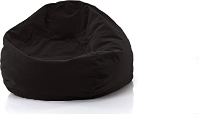 Gold Medal Bean Bags Gold Medal Microsuede Corduroy Bean Bag, Large, Charcoal
