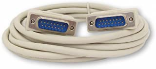 Your Cable Store 10 Foot DB15 15 Pin Serial Port Cable Male/Male