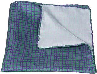 40 Colori - Pochette con disegno a griglia irregolare in pura seta