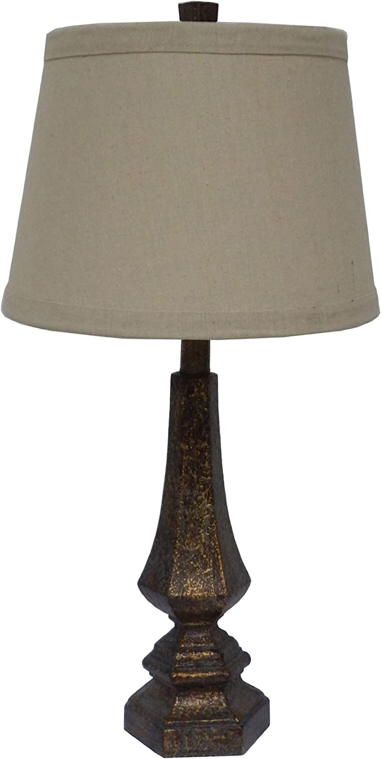 Fangio Lighting 6170 Resin Table Lamp, 26-Inch, Antique gold Finish